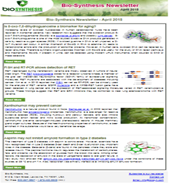 Bio-Synthesis Newsletter - April 2018