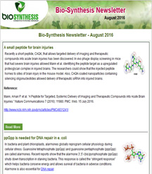 Bio-Synthesis Newsletter - august 2016