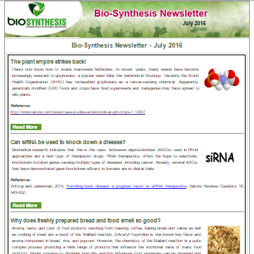 Bio-Synthesis Newsletter - july 2016