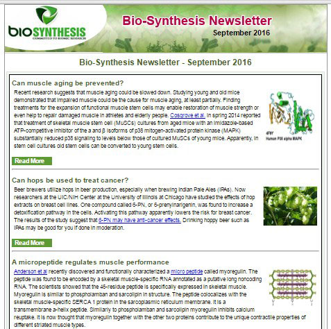Bio-Synthesis Newsletter - September 2016