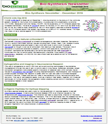 Bio-Synthesis Newsletter - december 2016