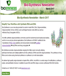 Bio-Synthesis Newsletter - march 2017