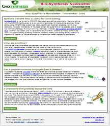 Bio-Synthesis Newsletter - November 2016