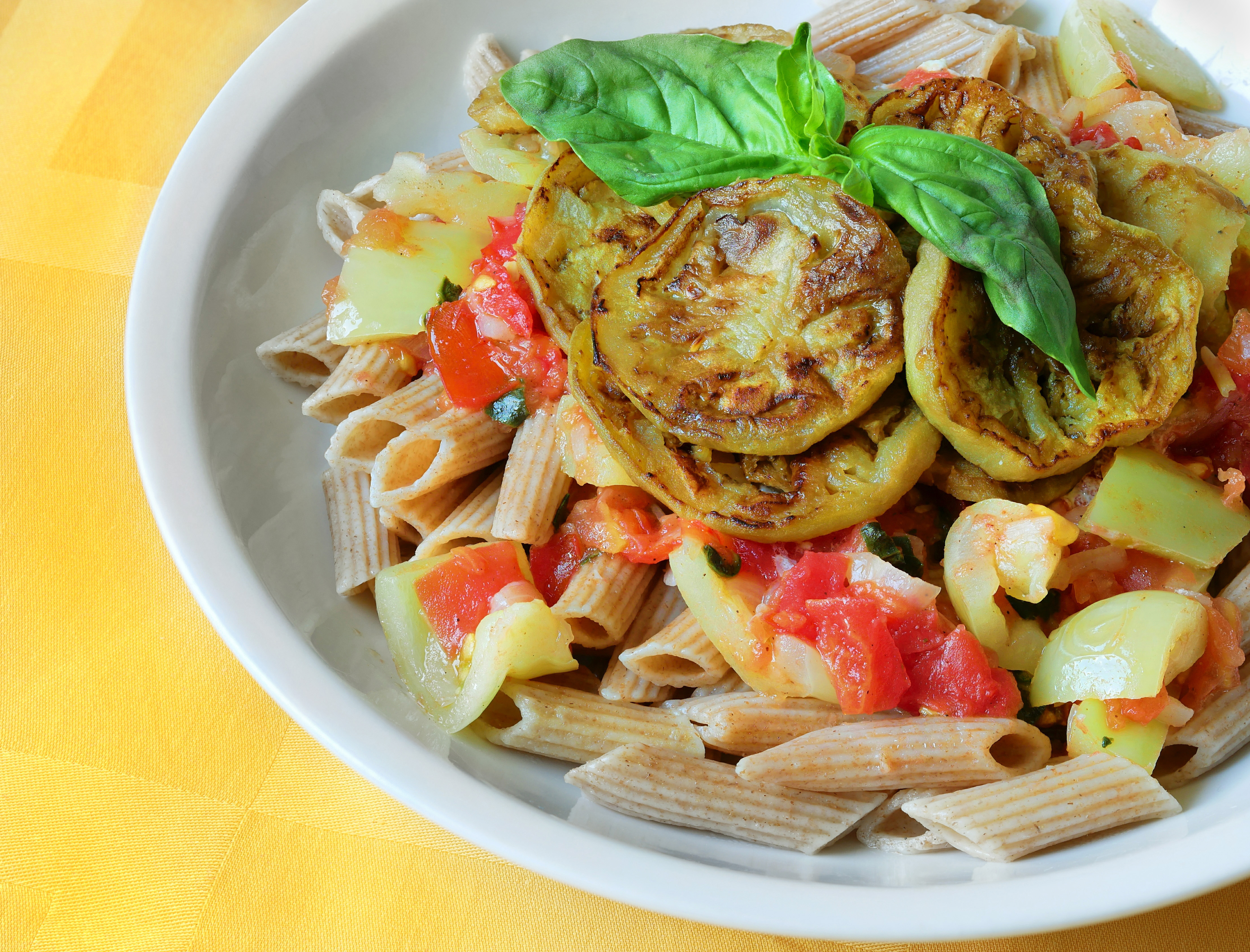 Penne_with_eggplant_and_basil_in_yogurt-tomato_sauce
