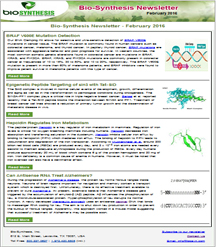 Bio-Synthesis Newsletter - feb 2017