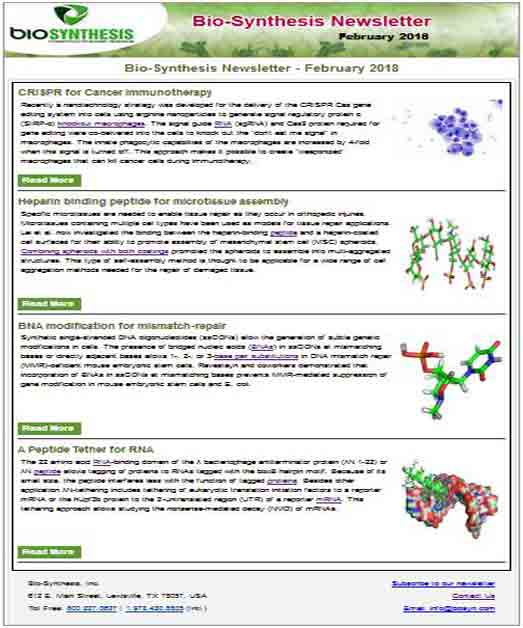 Bio-Synthesis Newsletter - February 2018