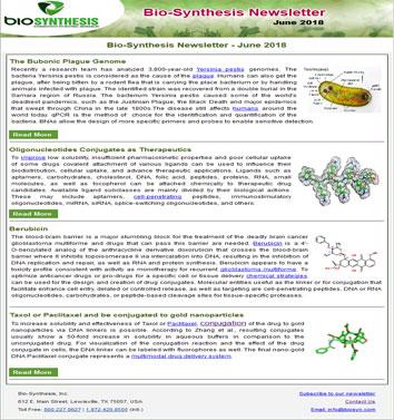 Bio-Synthesis Newsletter - June 2018