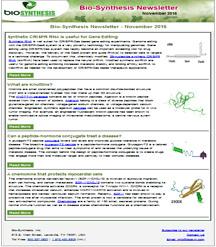 Bio-Synthesis Newsletter - November 2016